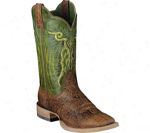 Ariat Mesteno (men's) - Adobe Clay/neon Lime Full Grain Leather