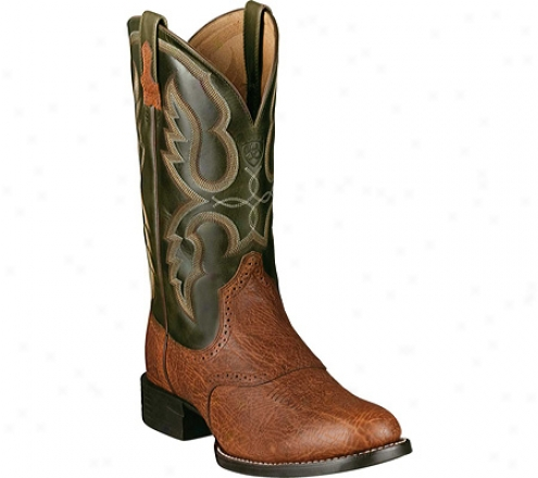 Ariat Quantum Pro (men's) - Red Oak Shoulder/marble Full Grain Leather