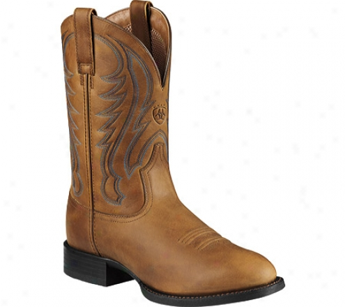Ariat Sport Round Toe (men's) - Arena Brown Full Grain Leather