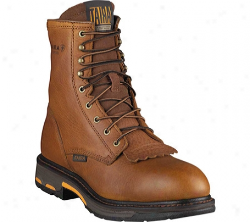 """ariat Workhog 8"""" Compounded Toe (men's) - Golden Grizzly Full Grain Leather"""