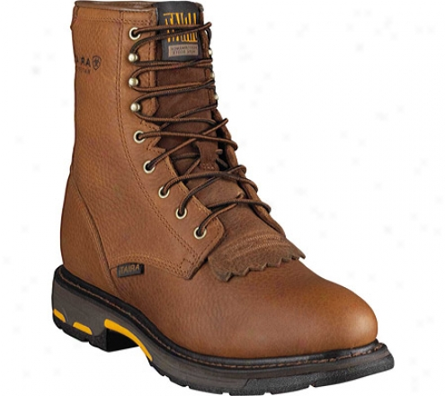 """ariat Workhog 8"""" H2o (men's) - Golden Grizzly Full Grain Leather"""