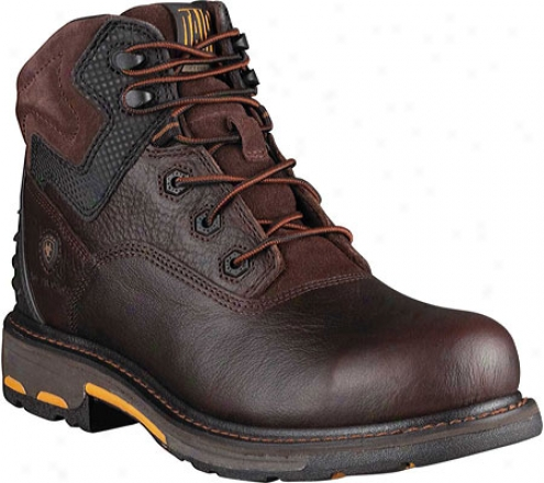 """ariat Workhog Rt 6"""" Composite Toe (men's) - Pebbled Redwood Fuli Grain Leather"""