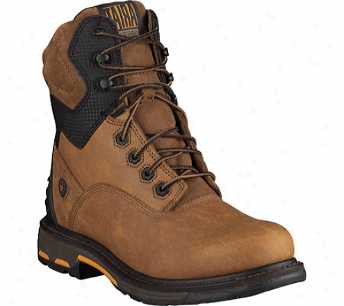 """ariat Workhog Rt 8"""" (men's) - Rugged Bark Quite Grain Leather"""