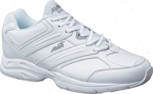 Avia A325m (men's) - White/chrome Silver/lemon Yellow