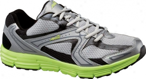 Avia A5643m (men's) - Chrome Silver/black/yellow Glow