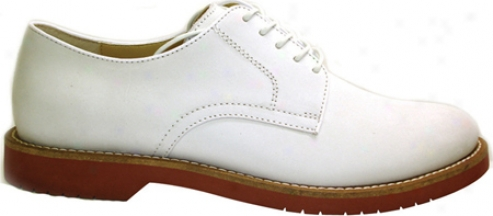 Bass Buckingham (men's) - White Kid Suede
