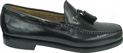 Bass Larkin (men's) - Black Brush Off Leather