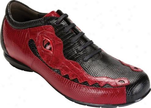 Belvedere Corona (men's) - Black/red Lizard