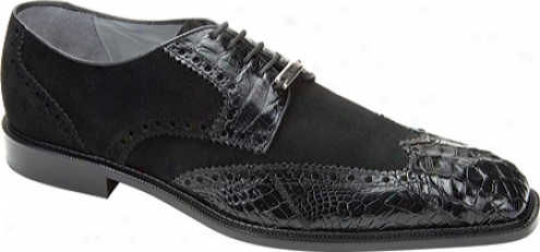 Belvedere Pergola (men's) - Black Suede/crocodile
