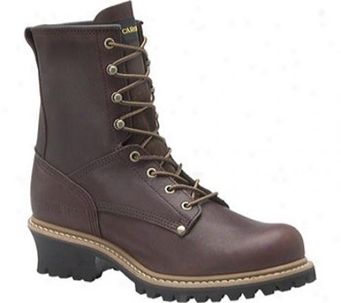 """""""carolina 8"""""""" Plain Toe Logger 821-briar Leather (men's)"""""""