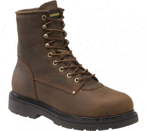 Carolina St Artless Toe Boot 8 (men's) - Dark Brown Leatner
