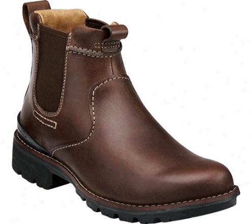 Clarks Holyoke (men's) - Brown Leqther
