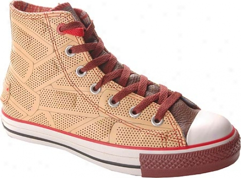Converse (prodvt) Red Chuck Taylor Altogether Star Drx Hi Top - Brown/black Leather