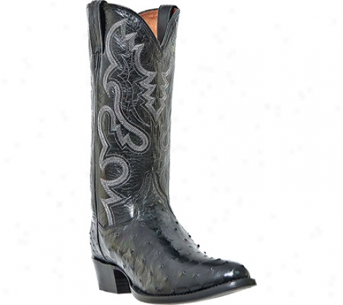 Dan Post Boots Tempe Dp2321 (men''s) - Black Full Quill Ostrich