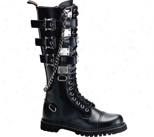 Demonia Gravel 23 (men's) - Black Leather