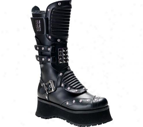 Demonia Ravage 303 (mrn's) - Black Leatherr