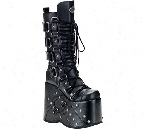 Demonia Stack 318 (men's) - Mourning Pu