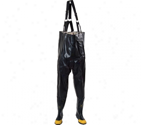 Diamond Rubber Products Plain Toe Chest High Waders 140 (men's) - Negro