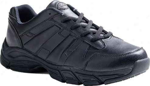 Dickiew Athletic Lace (men's) - Black Smooth Leather