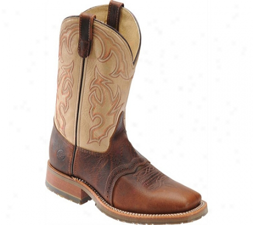 """""""double H 10"""""""" Wide Square Toe Western (men's) - Briar Bison/echo Taupe"""""""
