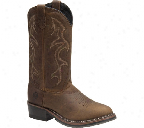 """double H 12"""" Black Ice Western (men's) - Briar Leather"""