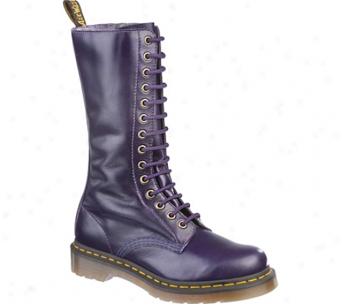 Dr. Martens 1b99 14 Eye Zip Buttero Boot - Potent Purple Buttero