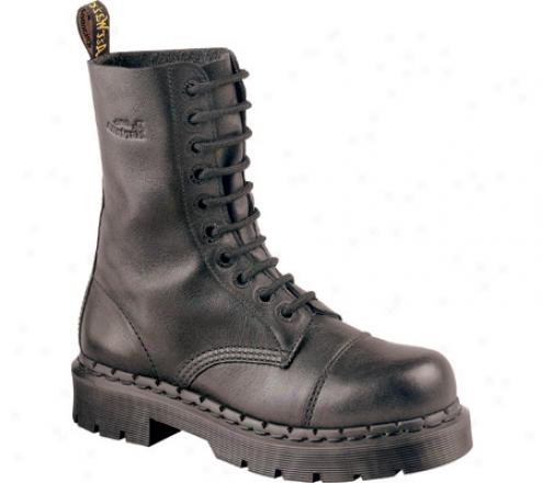 Dr. Martens 8267ba 10 Eye Notched Welt Boot (men's) - Black Nappa