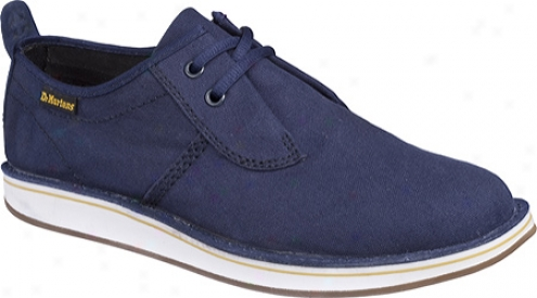 Dr. Martens Allan 2-eye Shoe (men's) - Navy Canvas/hi Suede Wp