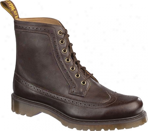 Dr. Martens Fitzroy 7-eye Brogue Boot (men's) - Dark Brown Polished Wyoming