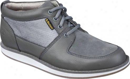 Dr. Martens Sergio 4-eye Hi Shoe (men's) - Grey/grey Mare Broadway/hi Suede Wp/ballistic Ensnare