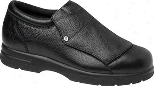 Drew Victtor (men's) - Black Pebbled Grain Leather