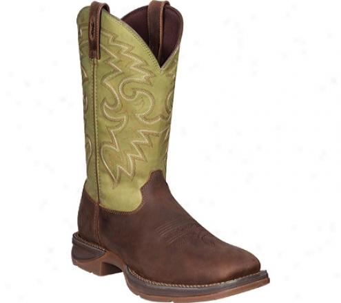 """durango Boot Db5416 12"""" Rebel Pull-on (men's) - Coffee/dactus"""