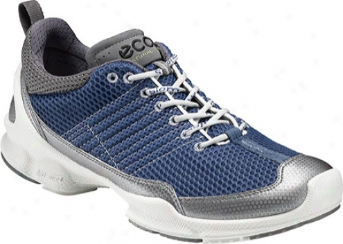 Ecco Biom Trainer 1.2 (men's) - Titanium Metallic/black Synthetic/textile