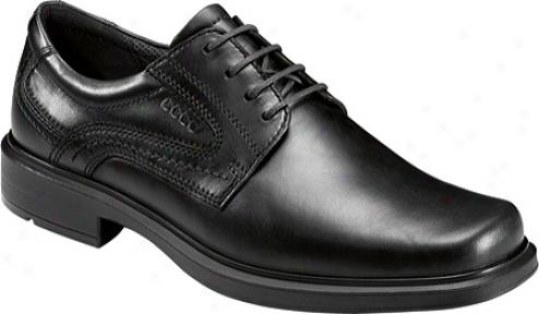 Ecco Helsinki Plain Toe Tie (men's) - Black Santiago Full Grain Leather