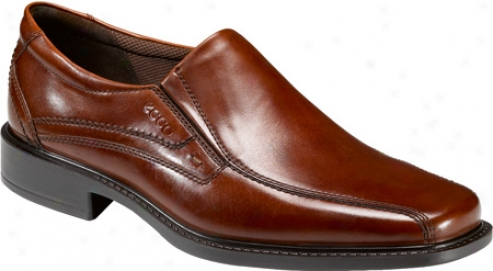 Ecco New Jersey Slip On (men's) - Cognac Manhattan