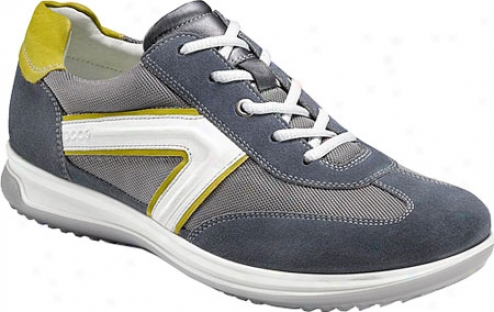 Ecco Roadstar Sneaker (men's) - Ombre Suede/titanium/olive/shadow White Leather