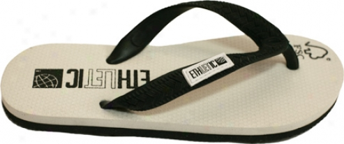 Ethletic Eco-friendly Flip Flop - White/black