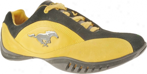 Ford Mustang Fm003 (men's) - Gold/black Leather/suede