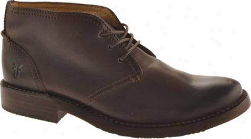 Frye Oliver Chukka (men's) - Dark Brown Leather