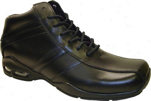 Gbx 13320 (men's)) - Black Burnished Action Leather