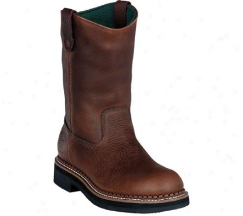 """georgia Boot G42 12"""" Waterproof Wellington (men's) - Red Brown Soggy Leather"""