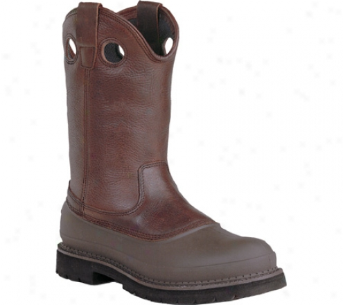 """""""georgia Boot G56 12"""""""" Safety Toe Pull On Mud Dog Comfort Core (men's) - Soggy Brown Ful Grain Leagher"""""""