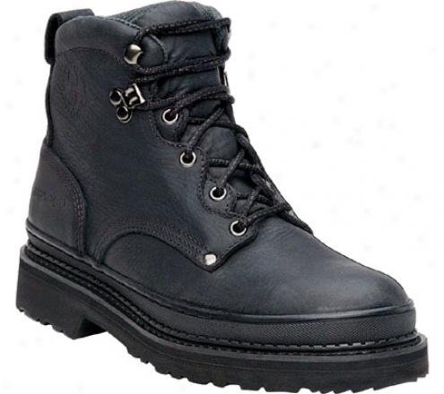 """georgia Boot G63 6"""" Safety Toe Georgia Giant (men's) - Soggy Black Full Dye Leather"""