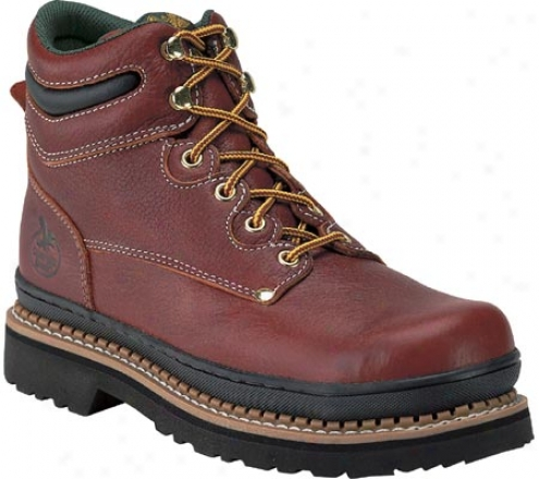 """georgia Boot G63 6"""" Safety Toe (men's) - Soggy Redwood Full Grain Leather"""