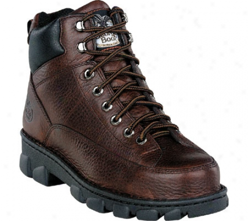 Georgia Profit G63 Wide Load Safety Toe Lace To Toe Eagle Light (men's) - Dark Soggy Brown Full Geain Leather