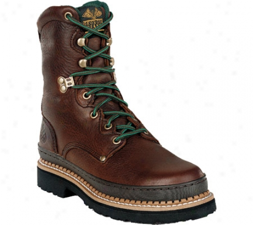 """georgia Boot G82 8"""" Georgia Boot Low (men's) - Soggy Browwn Full Grain Leather"""