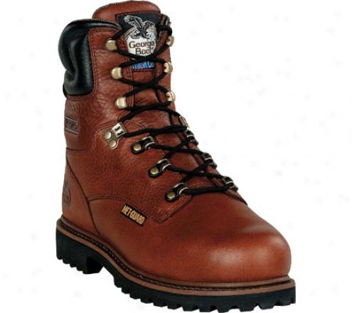 """georgia Boot G83 8"""" Steel Toe Metatarsal Comfort Core Wel5 (men's) - Greasy Briar Full Corn  Leather"""