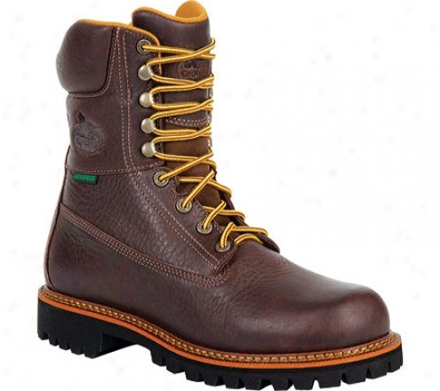 """georgia Profit G8364 8"""" Chieftan Steel Toe (men's) - Hazard Brown"""