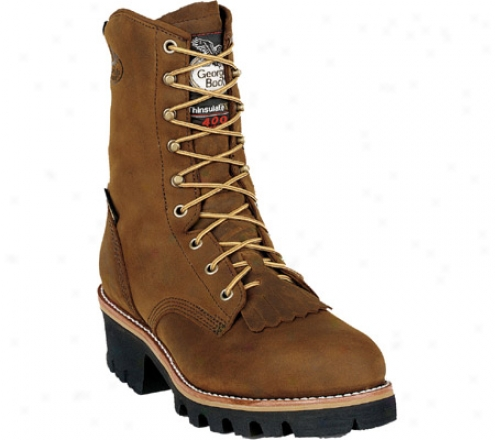 """georgia Boot G93 8"""" Preservation Toe Insulated Gore Tex Logger (men's) - Tan Cheyenne Full Grain Leather"""