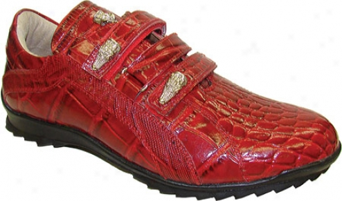 Giorgio Brutkni 20001 (men's) - Red Croco Print Leather